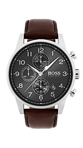 Hugo BOSS Reloj Cronógrafo para Hombre de Cuarzo con Correa en Cuero 1513494