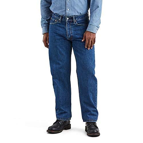 Levi's Men's 550 Relaxed Fit Jeans, Dark Stonewash, 36W x 32L