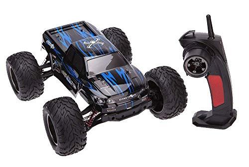 MODELTRONIC Coche Radio Control teledirigido Monster Truggy Escala 1 12 9115 9116 Eléctrico 2.4G   Velocidad de 40km h   Batería Recargable Coche RC XINLEHONG (Monster Azul 9115)
