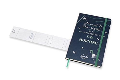 Moleskine Taccuino Peter Pan in Edizione Limitata, Notebook a Righe con Grafica e Dettagli a Tema Peter Pan, Tema Pirati, Copertina Rigida, Formato Large 13 x 21 cm, Colore Blu Zaffiro, 240 Pagine