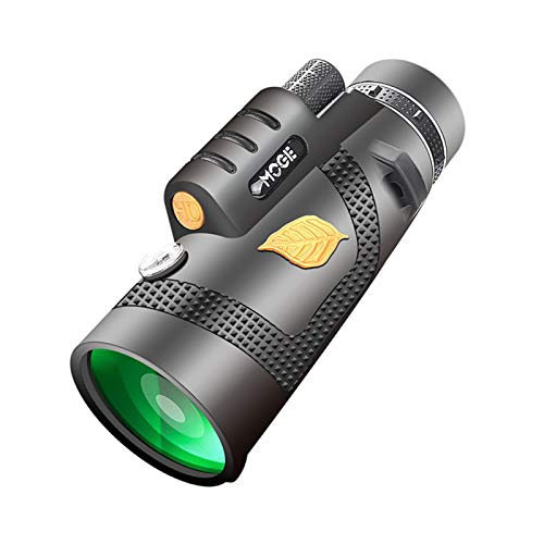 POHOVE 12x50 Monokular Teleskop HD High Power Monokular mit/ohne Smartphone Halterung & Stativ, Tag & Niedrige Nachtsicht Wasserdicht Zoom Teleskop für Vogelbeobachtung