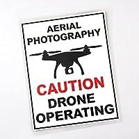 MX-XXUOUO 空中写真注意ドローン操作車のステッカー警告 PVC デカール、12.5 cmx16.3 cm,1 pcs