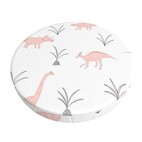Round Bar Stools Cover,Rosa Dinosaurier,Stretch Chair Seat Bar Stool Cover Seat Cushion Slipcovers Chair Cushion Cover Round Lift Chair Stool
