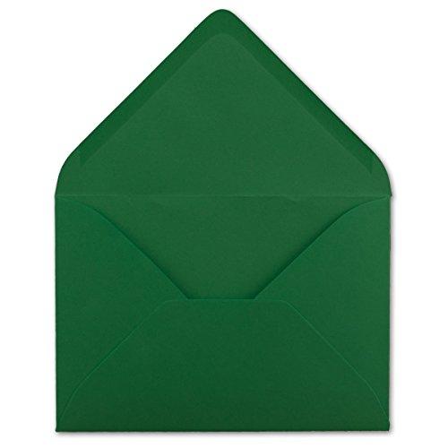 75Buste DIN C5Verde Scuro 220X 154mm 110G/M² incollaggio Post–Buste senza finestra ideale per Natale Biglietti Inviti del suo gluexx-AGENT