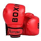 HUINING Guantes de boxeo para niños, guantes de boxeo MMA de PU de dibujos animados Sparring Dajn guantes de entrenamiento, 4 onzas, para edades de 3 a 12 años (rojo de boxeo)