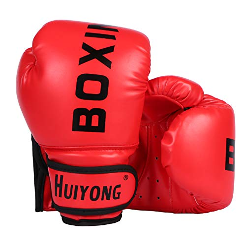 HUINING Guantes de boxeo para niños, guantes de boxeo MMA d