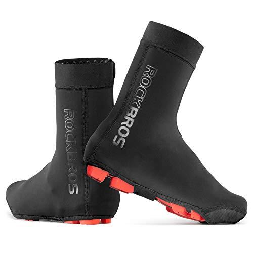ROCKBROS Fahrrad-Überschuhe, warm, wasserdicht, winddicht, für Mountainbike, Rennrad, Größe XL