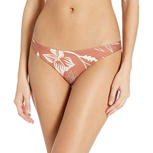 Hurley Women's Apparel Quick Dry Domino Reversible Surf Bikini Bottom, Dusty Peach, L