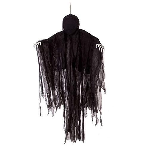 JOYIN 5 ft Scuro Hanging Grim Reaper, Ghost Faceless in Black Horror Robe per Il miglior Halloween Decorazioni d'attaccatura