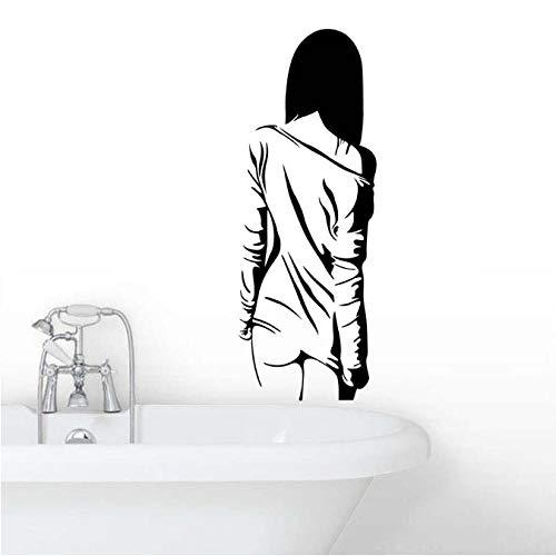 NKJBUVT Art Stickers Pour Fille Chambre Vinyle Autocollant Amovible Papier Peint Home Goods Décor Beauté Art Mural Silhouette 42 * 113Cm
