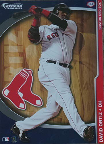 FATHEAD David Ortiz Mini Graphic Boston Red Sox Logo Official MLB Vinyl Wall Graphics 7' INCH