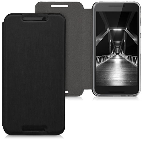 kwmobile Hülle kompatibel mit LG Google Nexus 5X - Flip Handy Schutzhülle - Cover Hülle Handyhülle in Schwarz