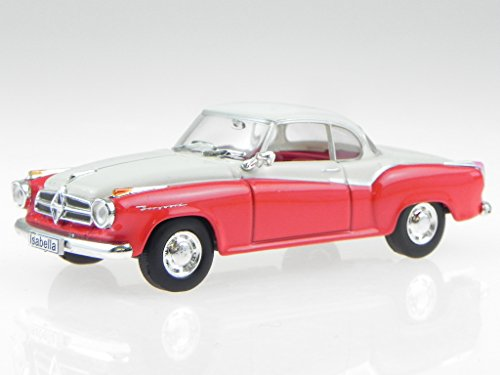 Borgward Isabella Coupe 1957 rot weiss Modellauto WB128 Whitebox 1:43