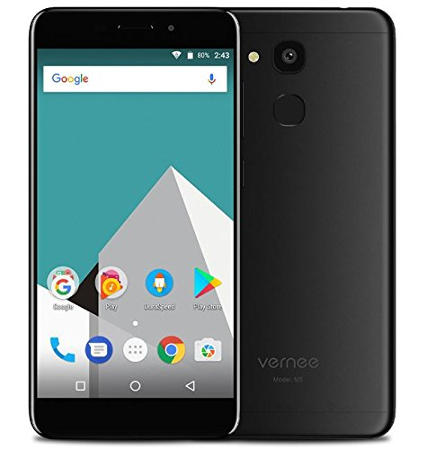 Vernee M5-5.2 inch HD IPS Screen Android 7.0 4G Smartphone, Octa Core 1.5GHz 4GB RAM 64GB ROM, 6.9mm Ultra Slim&Light Metal Texture, 8MP + 13MP Camera, 3300mAh Battery, VOS System GPS - Black