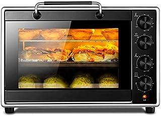 Mini horno multifunción de 40 L, 4 modos de hornear, resistente a altas temperaturas, incluye bandeja de horno a la parrilla y bandeja de escoria, 1800 W, color negro
