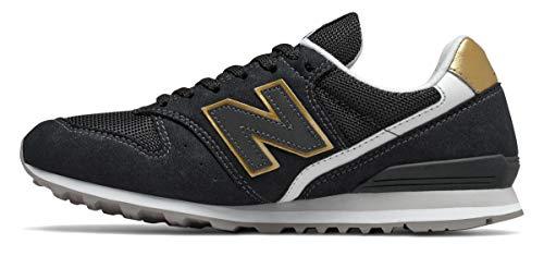 New Balance WL996-B Sneaker Damen schwarz, 40.5 EU - 7 UK - 9 US