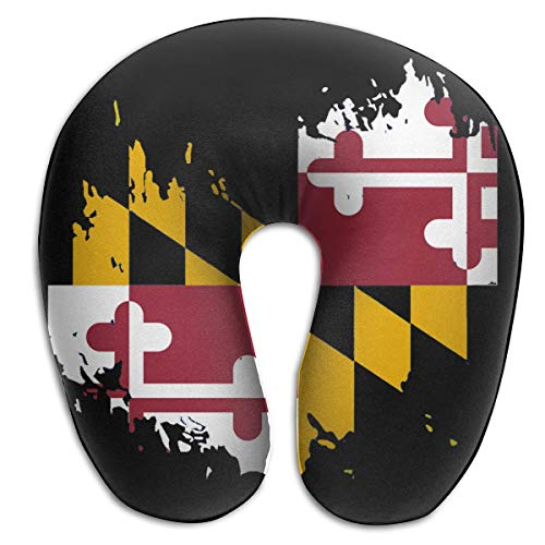 Hdadwy Travel Pillow/Neck Pillow Washable Cover Surfers Maryland State Flag U-Shape Memory Foam Neck Pillow