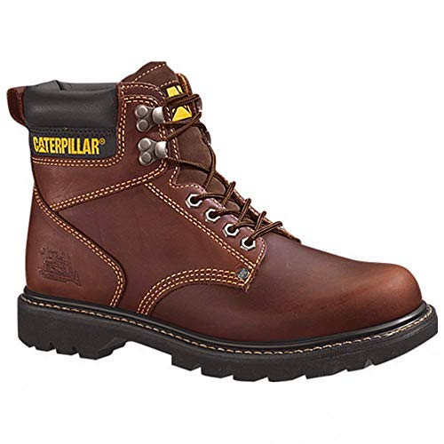 Caterpillar Men's 2nd Shift 6' Plain Soft Toe Boot,Tan,10.5 M US
