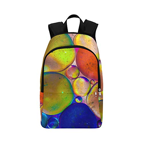 XINGCHENSS Macro Wheels Colors Light Casual Daypack Travel Bag College School Backpack for Mens and Women