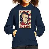 Photo de Cloud City 7 Wolfgang Amadeus Mozart Retro Propaganda Kid's Hooded Sweatshirt par