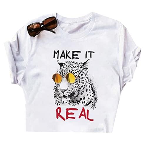 Tiger King Joe Exotic Camiseta Compacto y ligero de Active manga corta de la camiseta de las mujeres de peso ligero manga corta camiseta unisex de los hombres y mujeres de todo el algodón del inconfor