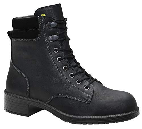 ELTEN Sicherheitsschuhe NIKOLA black Mid ESD S2, Damen, Business, elegant, Schwarz, Stahlkappe - Größe 41