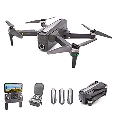 MJXRC Bugs 12 EIS Drone with 4k Camera for Adults, 66mins flight time, Slow Speed-Tripod Mode, 1-Axis Gimbal, 5x Digital Zoom, GPS 5G Wifi, Altitude Hold, Follow-me, Auto Return Home, Brushless Motor
