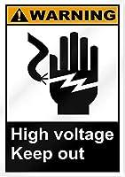 高電圧の立ち入り禁止警告。金属錫標識通知街路交通危険警告耐久性、防水性、防錆性
