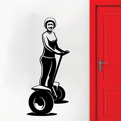 Rhpnyi Bicicleta Scooter Pared calcomanía Vinilo hogar habitación de bebé niño decoración Interior Pegatina de Pared 57x127cm