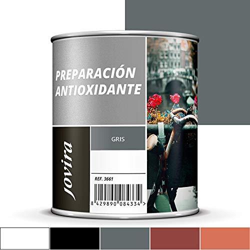 IMPRIMACION ANTIOXIDANTE METAL, Pintura tratamiento superficies de metal anti oxido. Imprimación uso general, Protección total. Anti oxidante. (750 ml, GRIS)