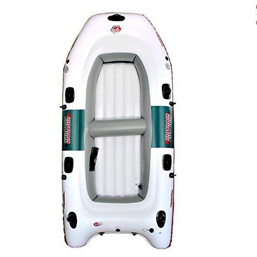 GUOE-YKGM Kayak Schlauchboot Faltkajak Outdoor Beiboot Bequeme Kajak Freizeit Faltboot 2-4 Personen Schlauchboot Marine Sport Angeln Abenteuer dicken PVC Kunststoff 270 * 150cm Weiß