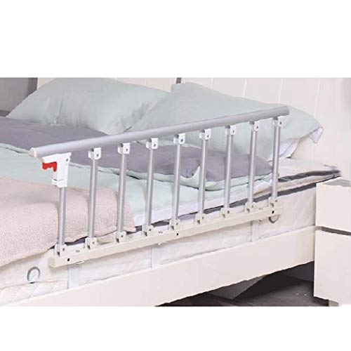 YF Bed Grab Rail Handle Safety Side Guard Foldable Bed Rail For Elderly Adults Assist Handle Handicap Bed Railing Hospital Metal Grip Bumper Bar (Size : 95x40cm)