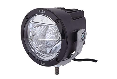 HELLA 1F0 012 206-112 LED-Fernscheinwerfer - Luminator X LED - 12/24V - Referenzzahl: 25 - Anbau - Lichtscheibenfarbe: grau