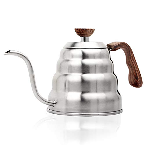 Gooseneck Pour Over Coffee Kettle, Stainless Steel Pour Over Coffee & Tea Kettle with Thermometer,Gooseneck Spout Pots Suitable all Stovetops and Induction