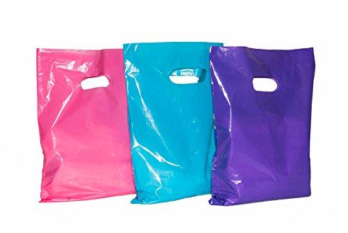Boutique 500 9x12 LILAC PURPLE Plastic Retail Die-Cut Handle Merchandise Bag
