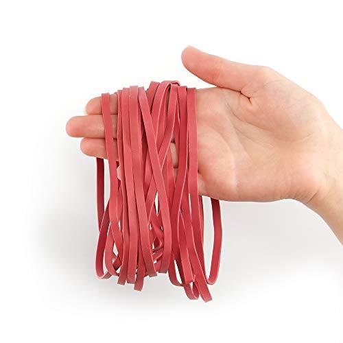 50 elastische große Gummibänder 5mm breit, rund, stabil, wiederverwendbar, haltbar
