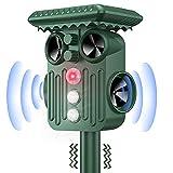 DANGZW Repellente Gatti, Repellente Ultrasuoni Energia Solare con Flash, IP66 Impermeabile Repeller Animali Ultrasound per Allontanare Animali Gatti, Cani, Uccelli, Volpi, Serpente
