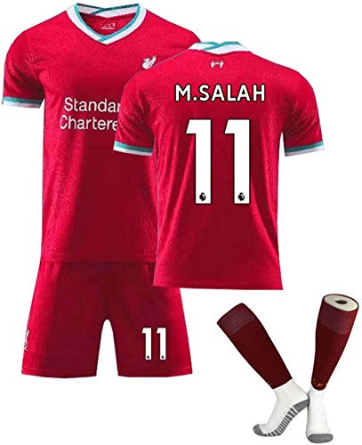 Liverpool men's jersey 2020-2021 home jersey, Liverpool Football Club training jersey, men's summer loose and breathable football jersey, football children's, youth, adult jerseys, shorts and socks.,A