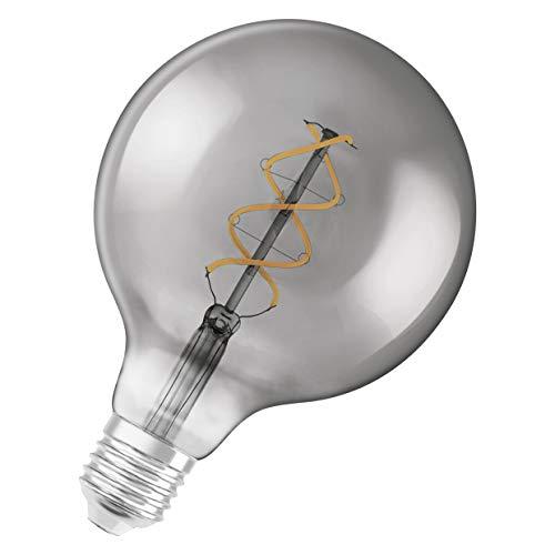 OSRAM Vintage Edition 1906 Ampoule LED à Filament Spirale   Culot E27   Forme Globe 125mm Smoke   Blanc Chaud 1800K   5W (équivalent 15W)