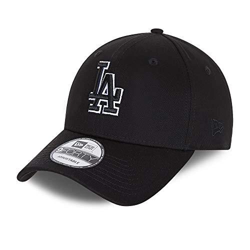New Era Los Angeles Dodgers 9forty Snapback Cap Verstellbar Kappe Black Base Schwarz - One-Size