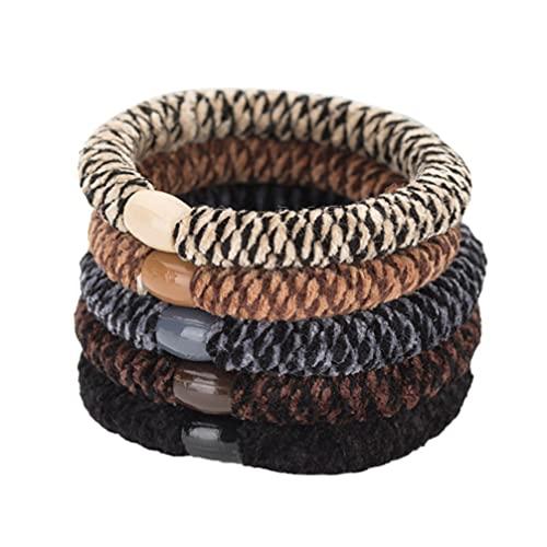 Lurrose Haargummi/Haargummi/Pferdeschwanz-Halter, elastisch, für dickes, schweres und lockiges Haar, 10 Stück