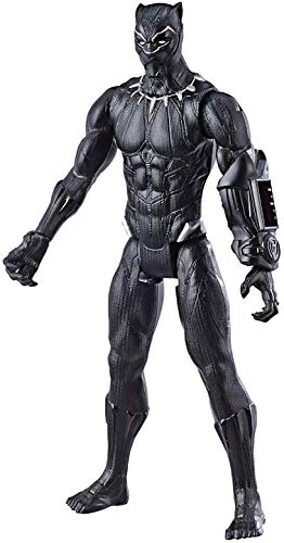 "Avengers Marvel Endgame Titan Hero Series Black Panther 12"" Action Figure, Brown/A"