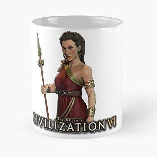 Nueva 5 Civilización y Meier Gods Kings Grecia Sid V 4 Brave A World Iv Best Taza de café de cerámica Personalizar