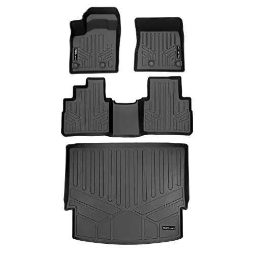 SMARTLINER SA0540/B0540/D0540 Custom Fit All Weather Black 2 Row Floor Mats and Cargo Liner Set for 2021 Nissan Rogue (No Sport Models)