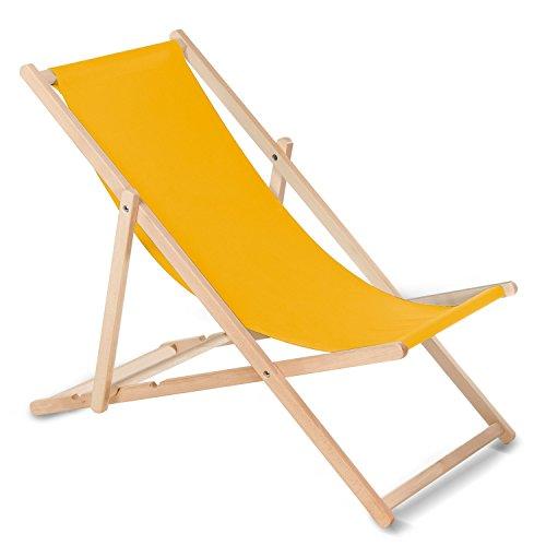 GreenBlue Tumbona (Amarillo) Hecha de Madera de Haya, Disponible en 12 Colores, práctica, cómoda …