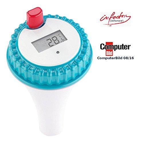 infactory Zubehör zu Pool Funkthermometer: Wassertemperatur-Sensor für PT-300 (Teich Thermometer mit Fühler)