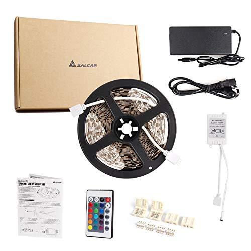 SALCAR LED Trias 10m 5050 SMD 600 Leds RGB Luces de Tira...