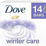 DOVE BAR Dove limited edition beauty bar moisturizing bath soap for dry skin winter care moisturizes better than bar soap 3.75 Ounce, 14 count, 3.75 Ounce