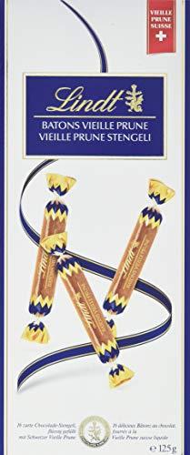Lindt Vielle-Prune Stengeli, Chocolade mit Vielle Prune-Füllung, 16 Stück (1 x 125 g)