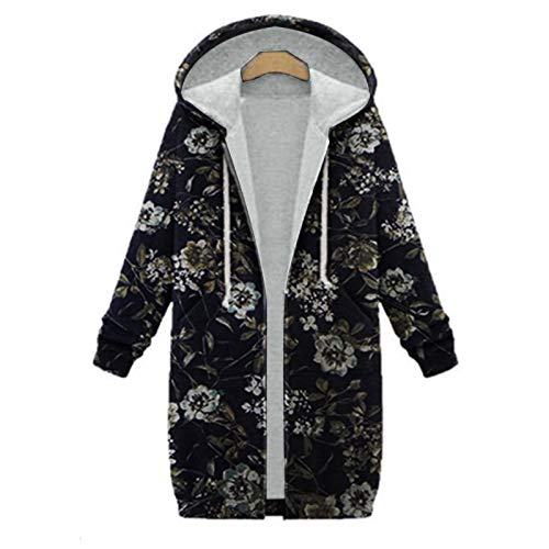 XOXSION Parka para mujer, chaqueta de invierno con capucha, vintage, moderna, elegante abrigo de felpa, chaqueta gruesa de invierno, chaqueta de invierno cálida con capucha, abrigo de piel marine S